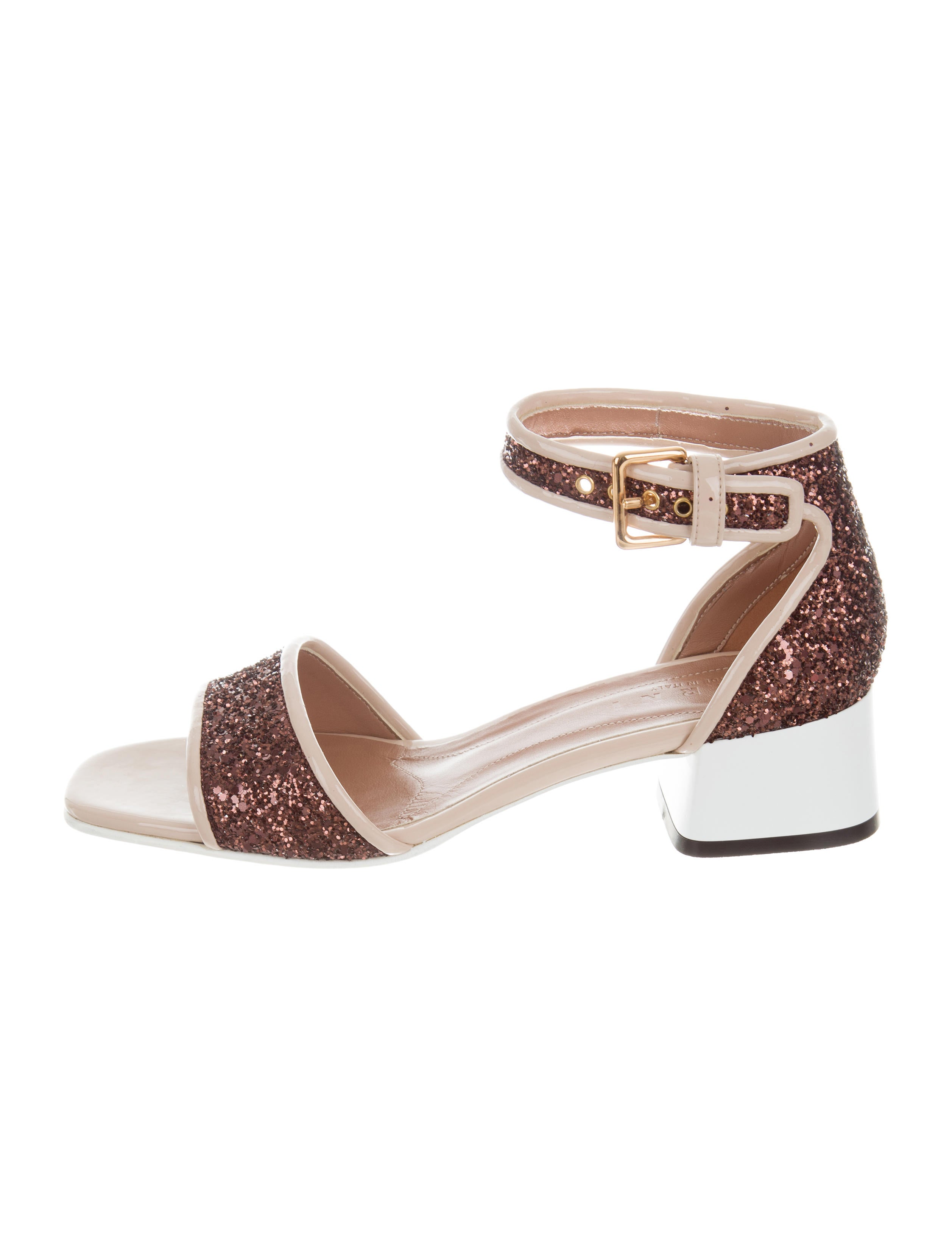 Marni Glitter Block Heel Sandals with paypal cheap online buy cheap collections oCT2i8u