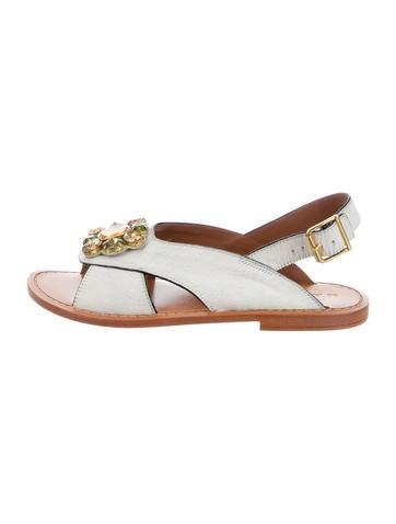Marni Ponyhair Jewel Embellished Sandals cheap big sale uXJtc