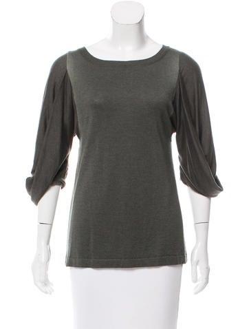 Marni Cashmere & Silk-Blend Sweater None