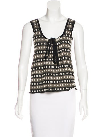 Marni Patterned Sleeveless Top w/ Tags None