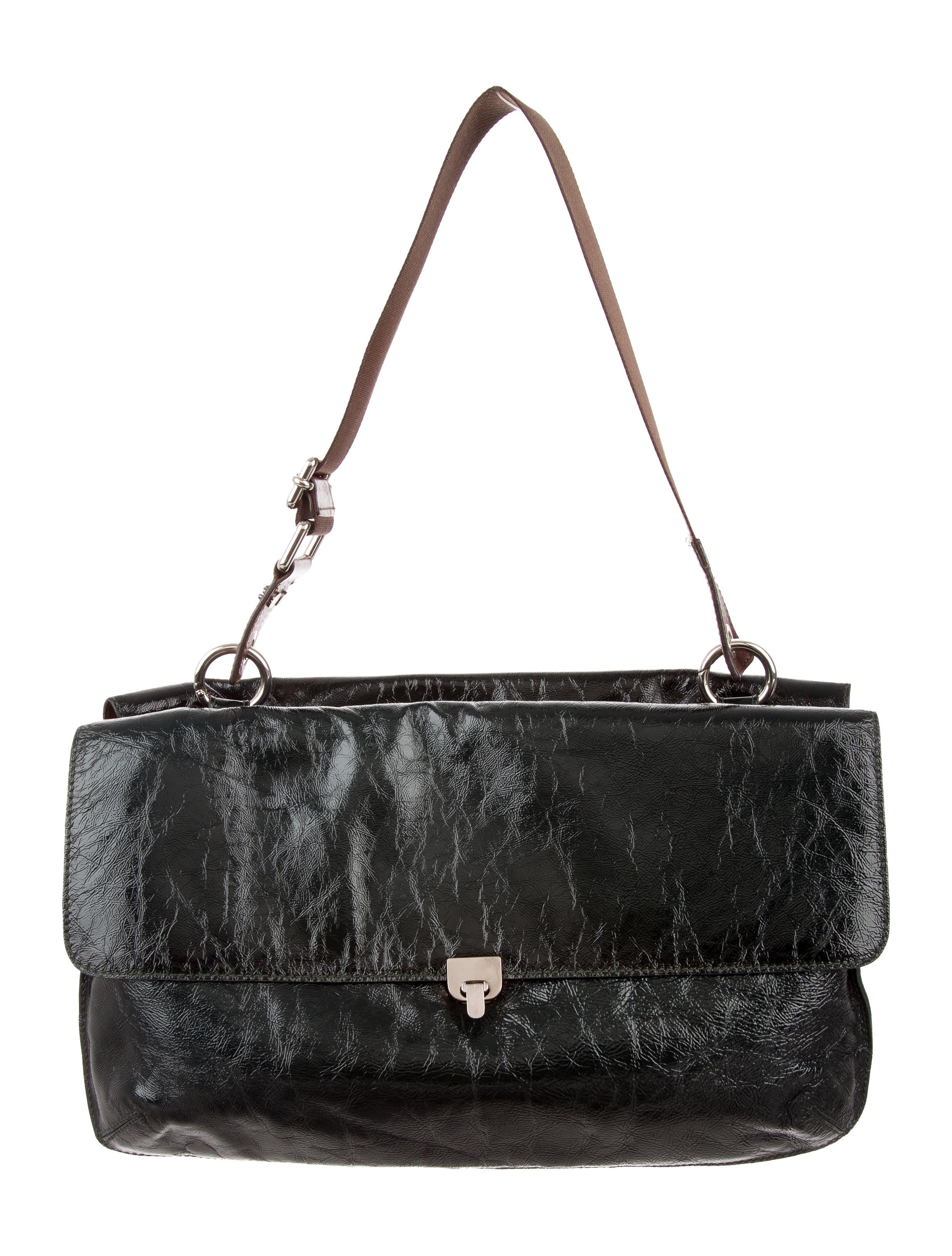 95c61d560ebe Marni Patent Leather Shoulder Bag - Handbags - MAN61252 | The RealReal