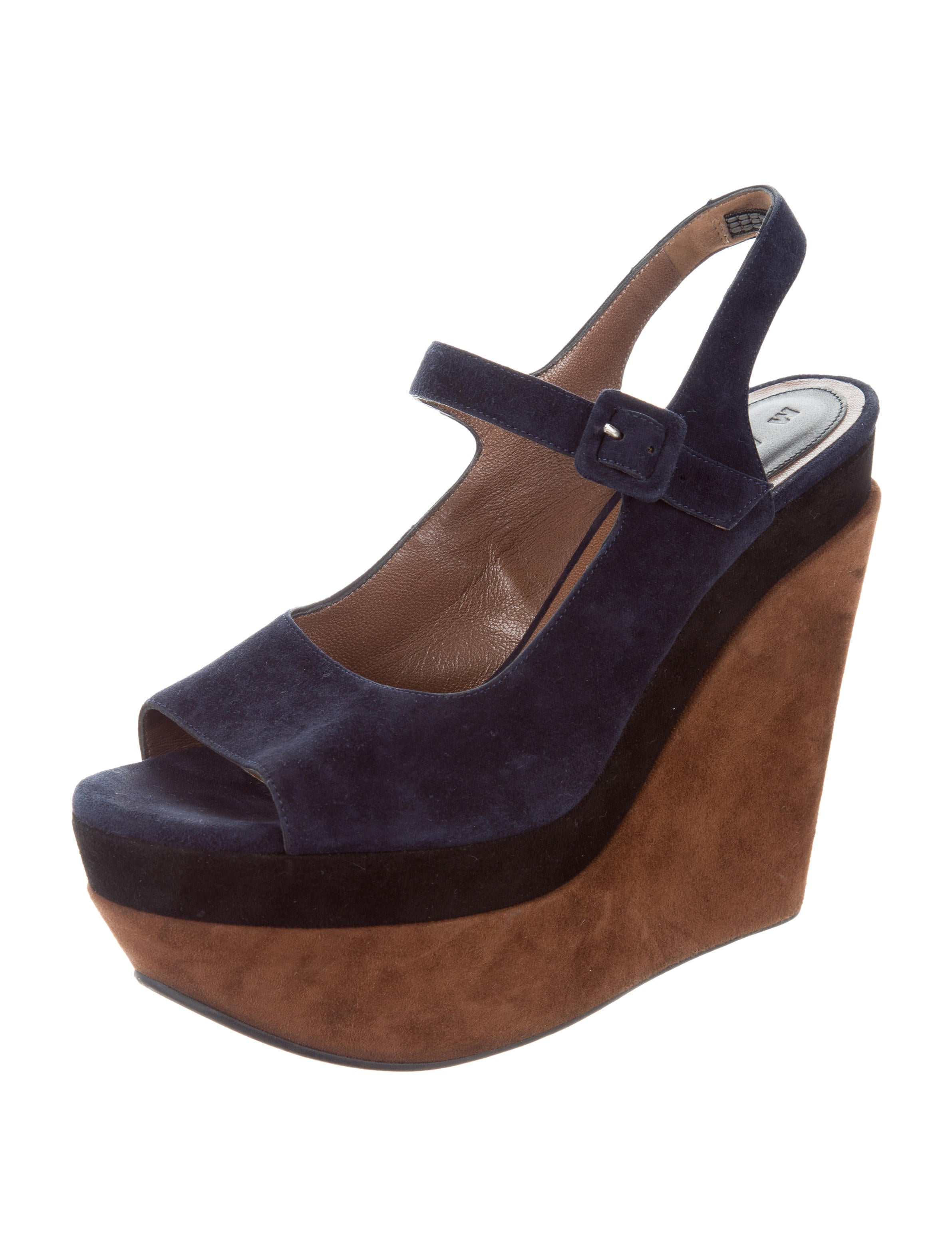Marni Suede Wedge Pumps