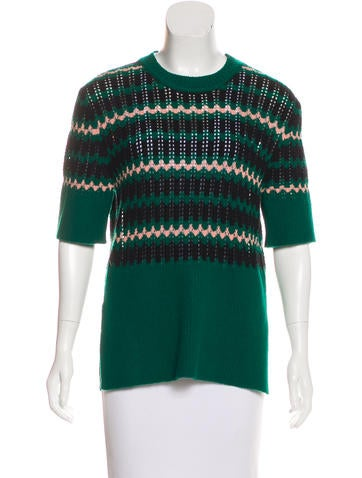 Marni Wool-Blend Short Sleeve Sweater w/ Tags None