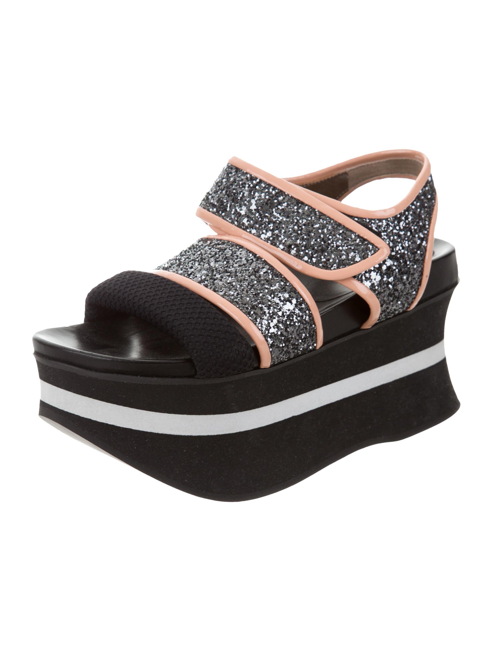 Black Glitter Shoes Size