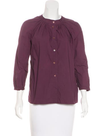 Marni Collarless Button-Up Top None