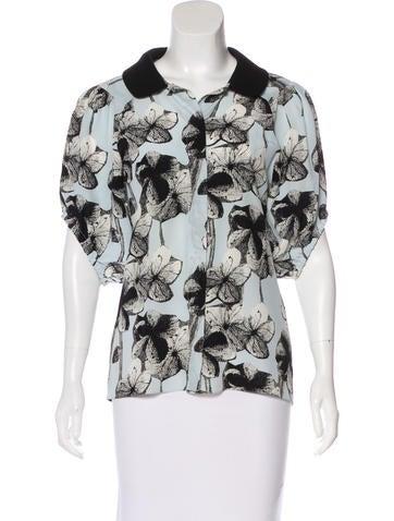 Marni Silk Button-Up Top None