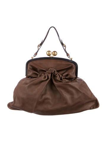 Marni Leather Kiss Lock Frame Bag Handbags Man62612