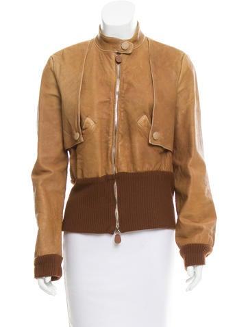 Marni Leather Zip-Up Jacket None