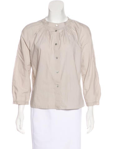 Marni Woven Button-Up Top None