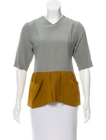 Marni Colorblock Silk Top None