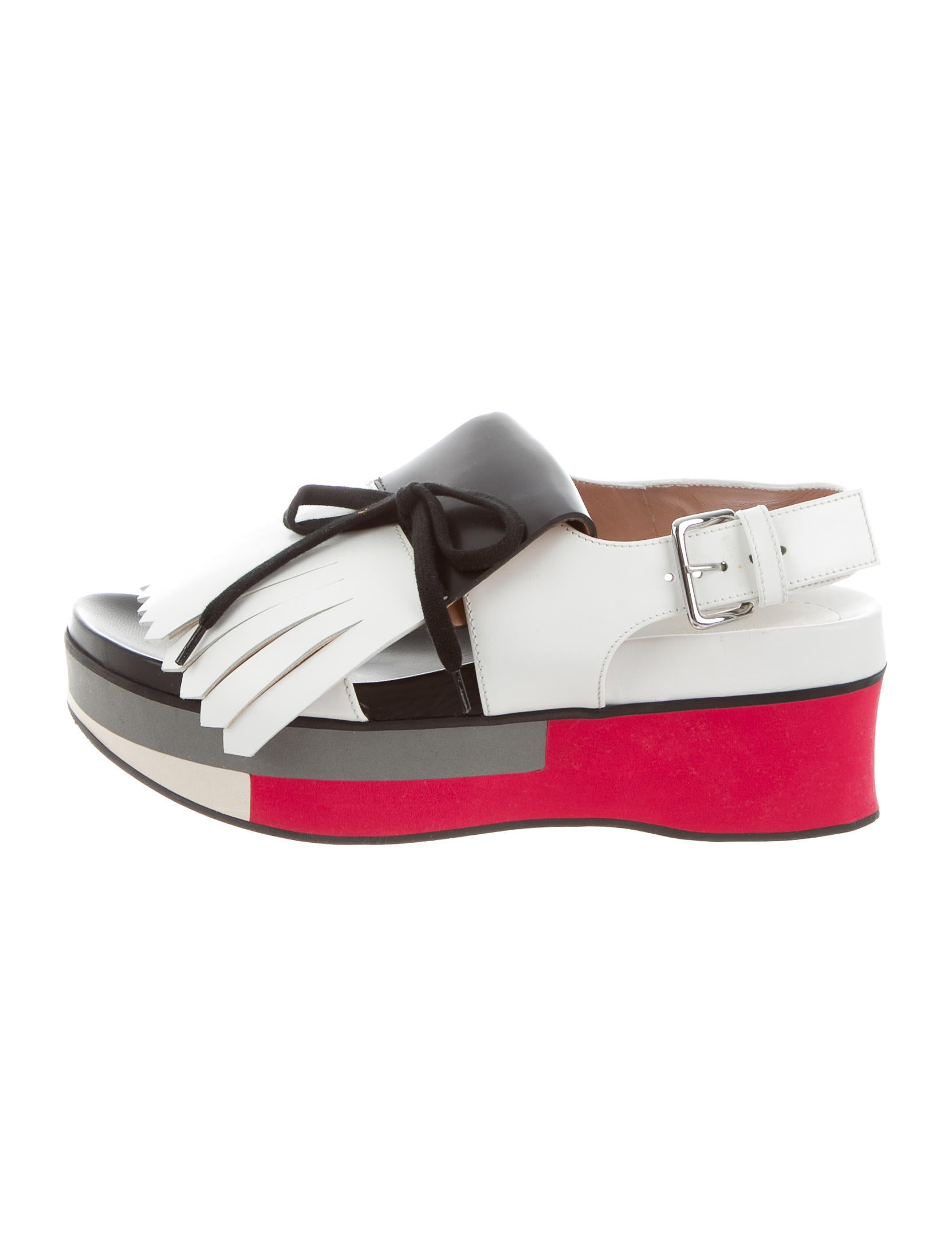 best prices sale online buy cheap low shipping Marni Kiltie-Accented Platform Sandals footlocker pictures online cheap online shop dG1U2R80Zr