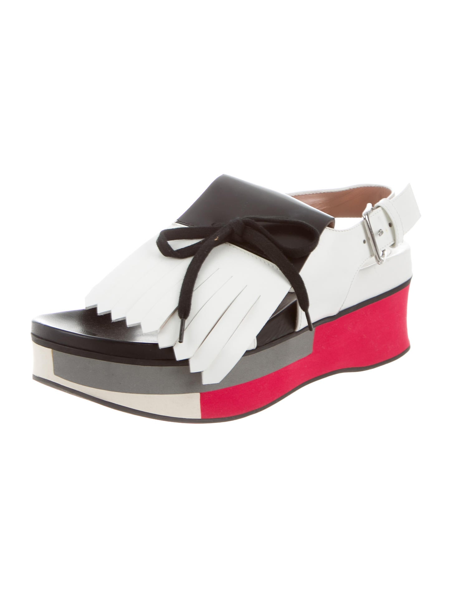 sale Cheapest cheap sale wholesale price Marni Kiltie-Accented Platform Sandals qrHoKhI