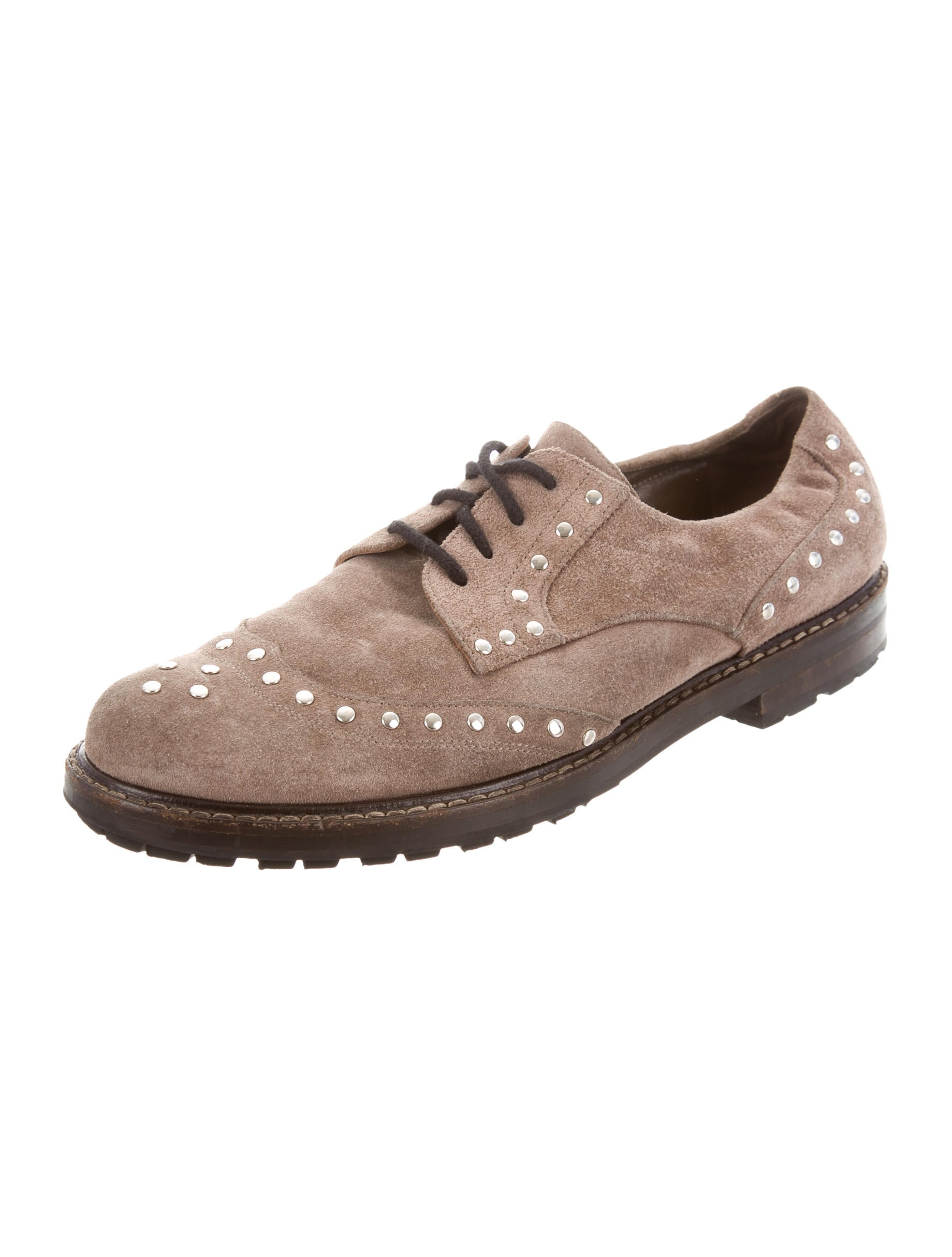 Marni Suede Studded Oxfords buy cheap fast delivery p8hvVzGmR