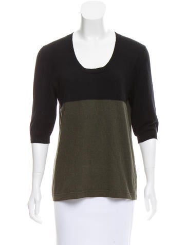 Marni Colorblock Cashmere Top None