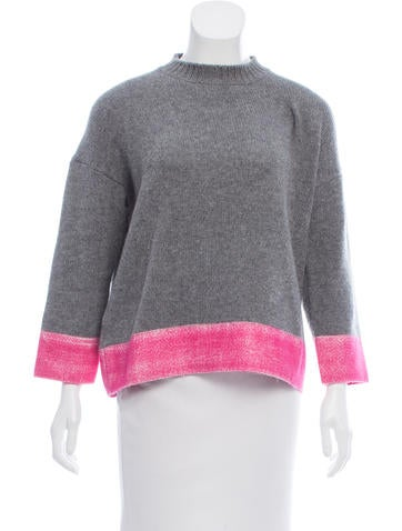 Marni Two-Tone Cashmere Sweater None