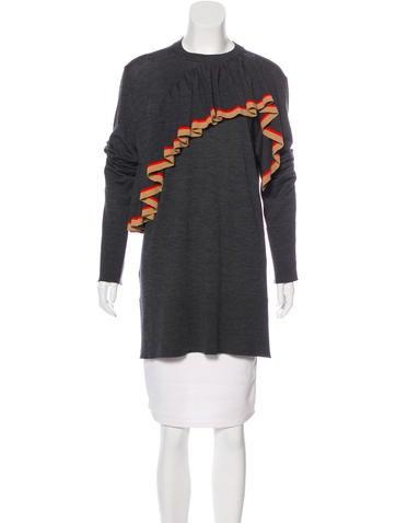 Marni Ruffle Wool Top None