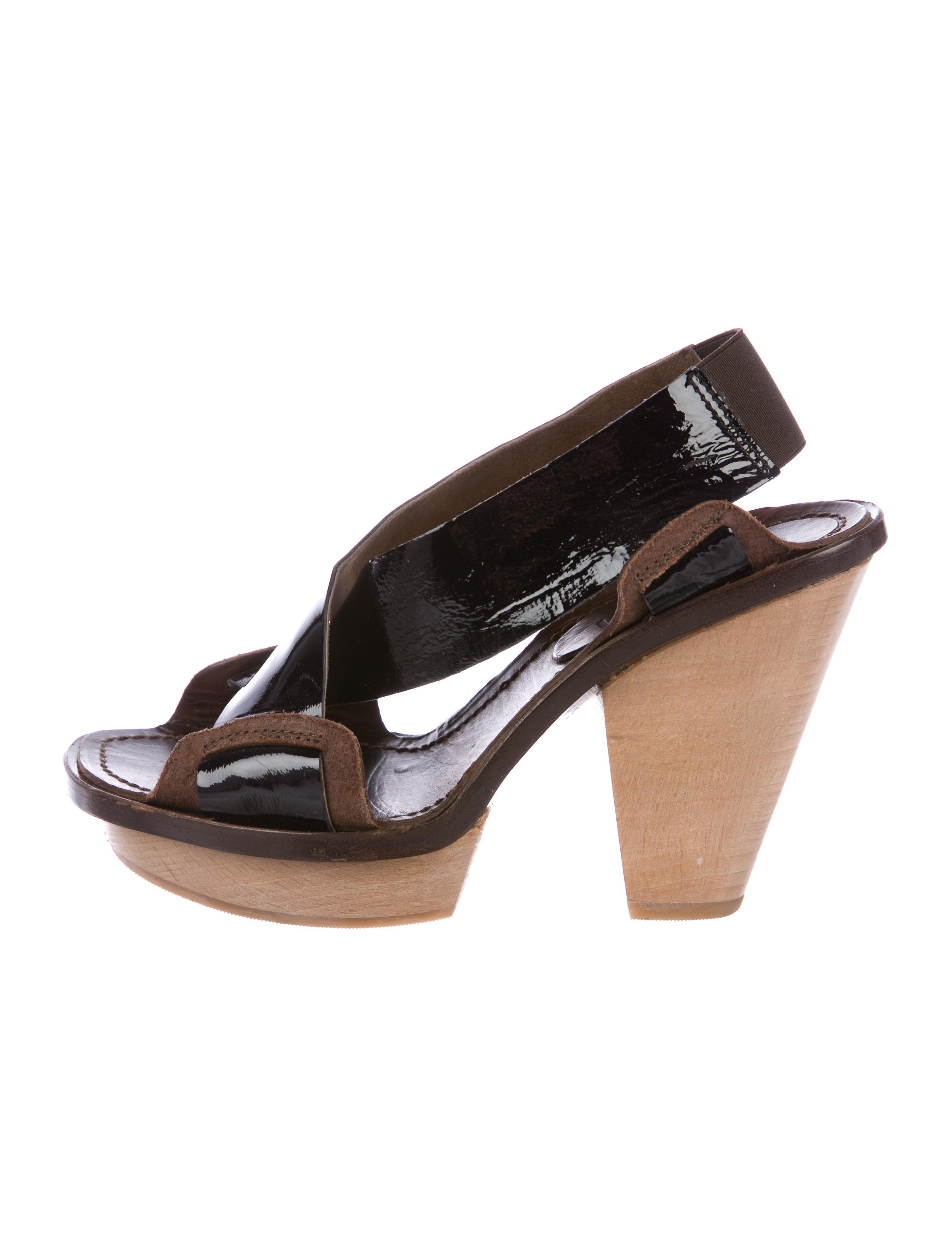 Marni Patent Leather Slingback Sandals sale L0SaNv2
