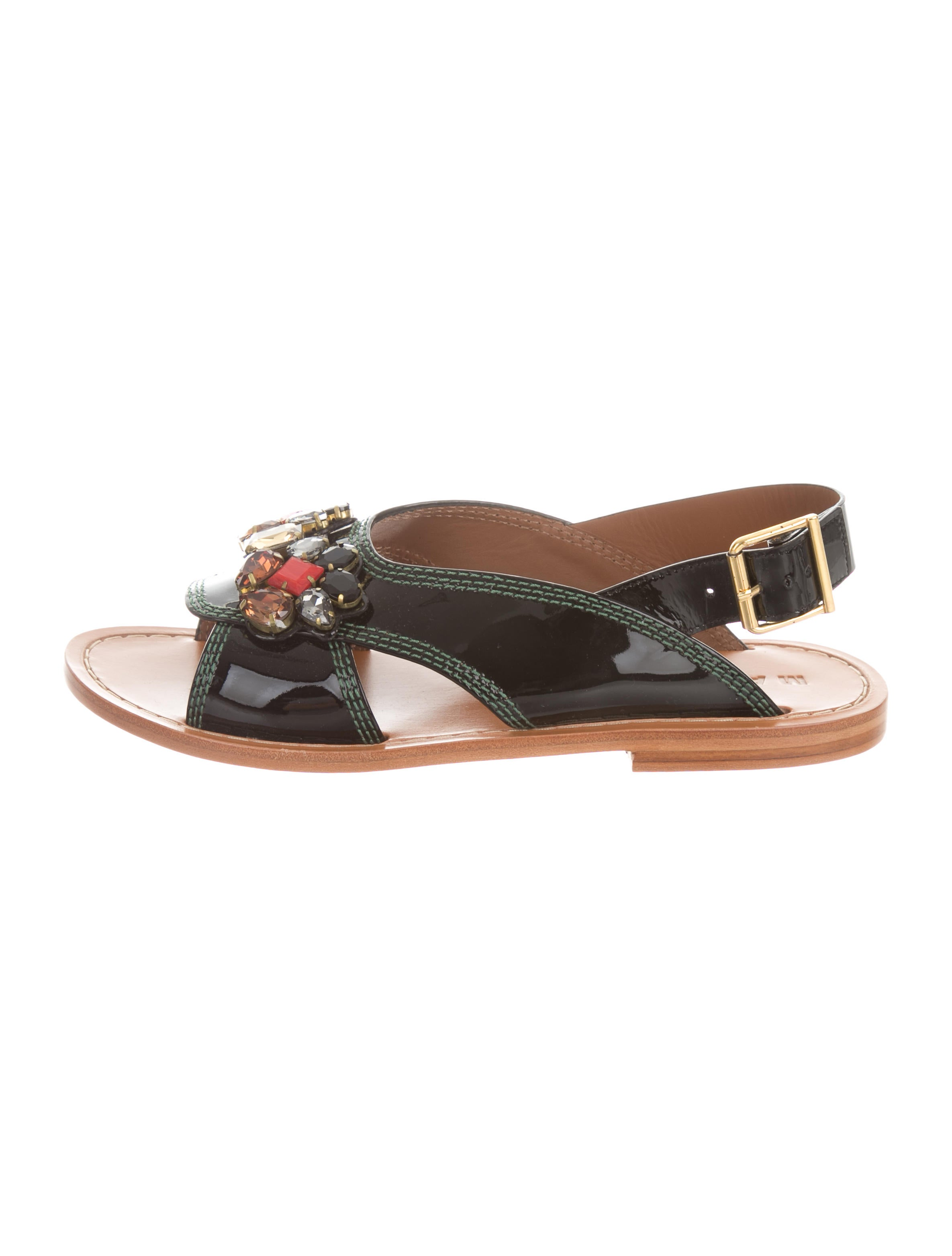 under $60 sale online Marni Embellished Slingback Sandals w/ Tags Cheapest online cheap sneakernews browse sale online JB6bOj