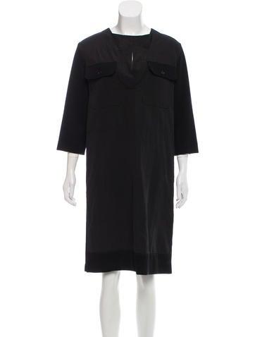 Marni Collarless Rib Knit Dress None