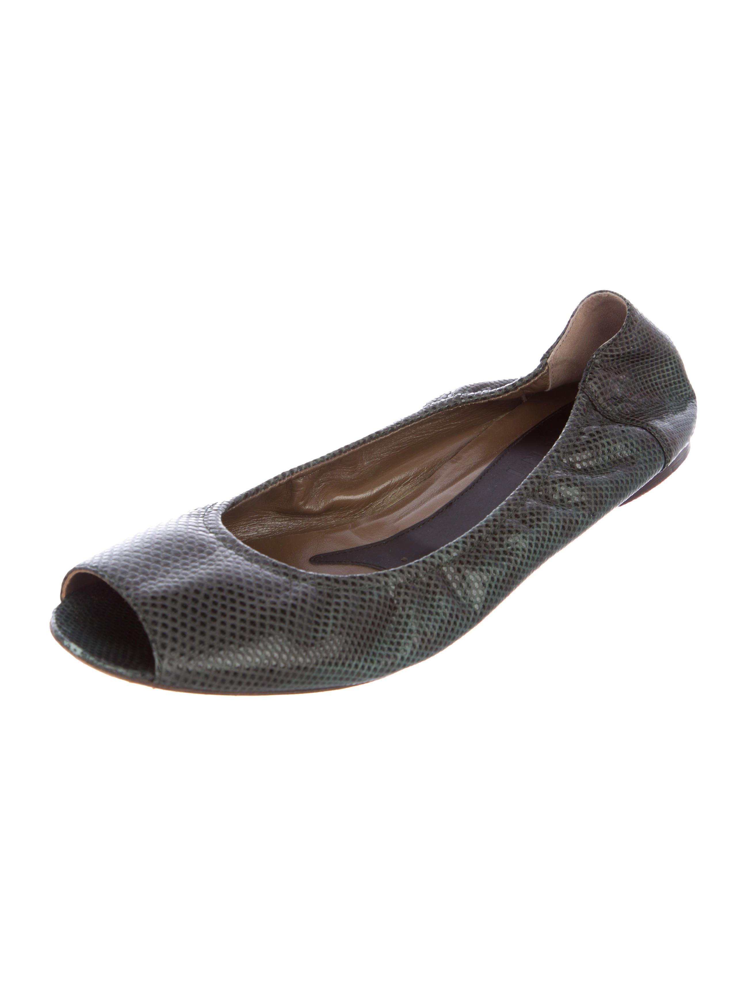 for sale online store Marni Karung Peep-Toe Flats clearance fast delivery pictures cheap online free shipping under $60 hMWf331