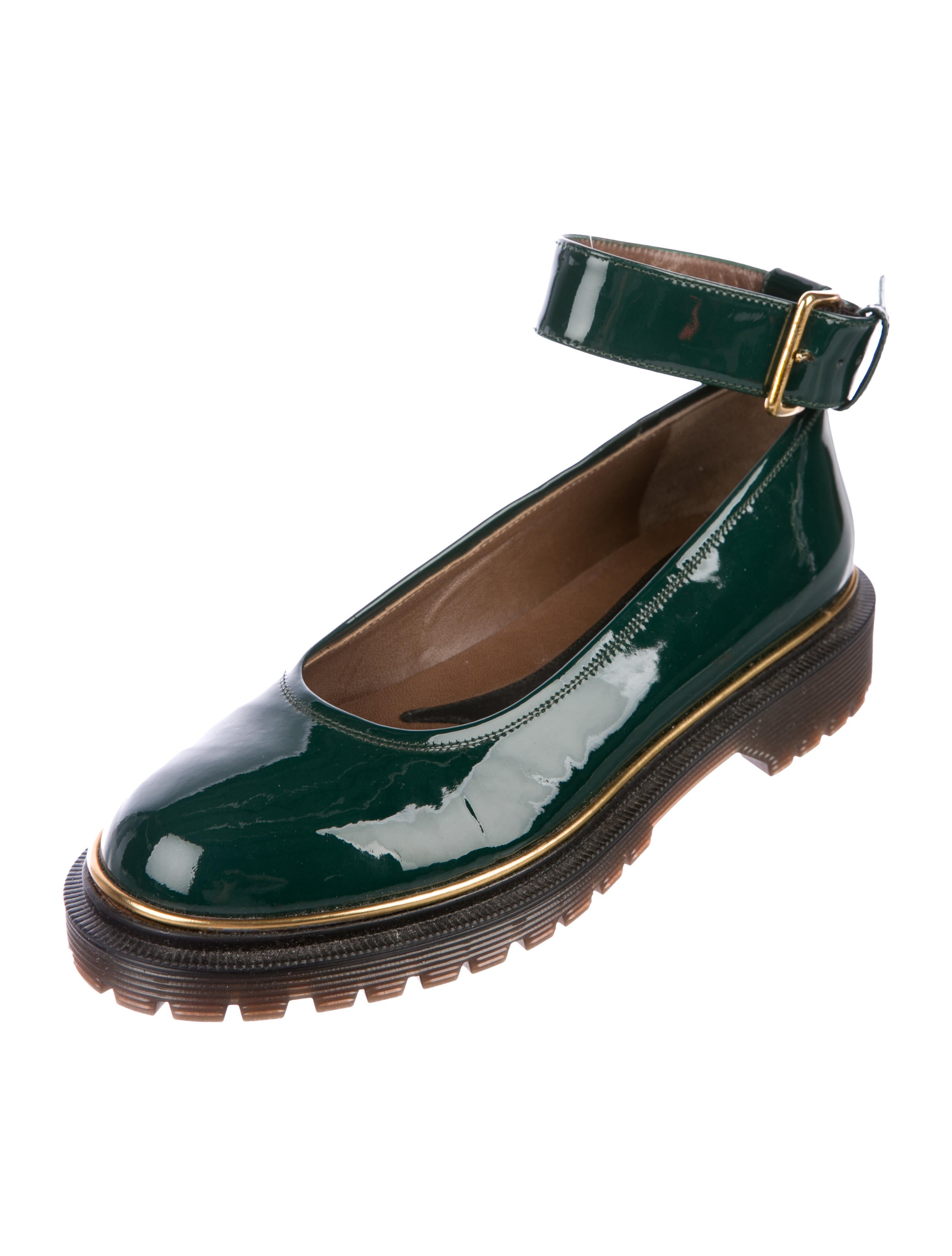 Marni Patent Leather Round-Toe Flats free shipping cheapest price boz6t