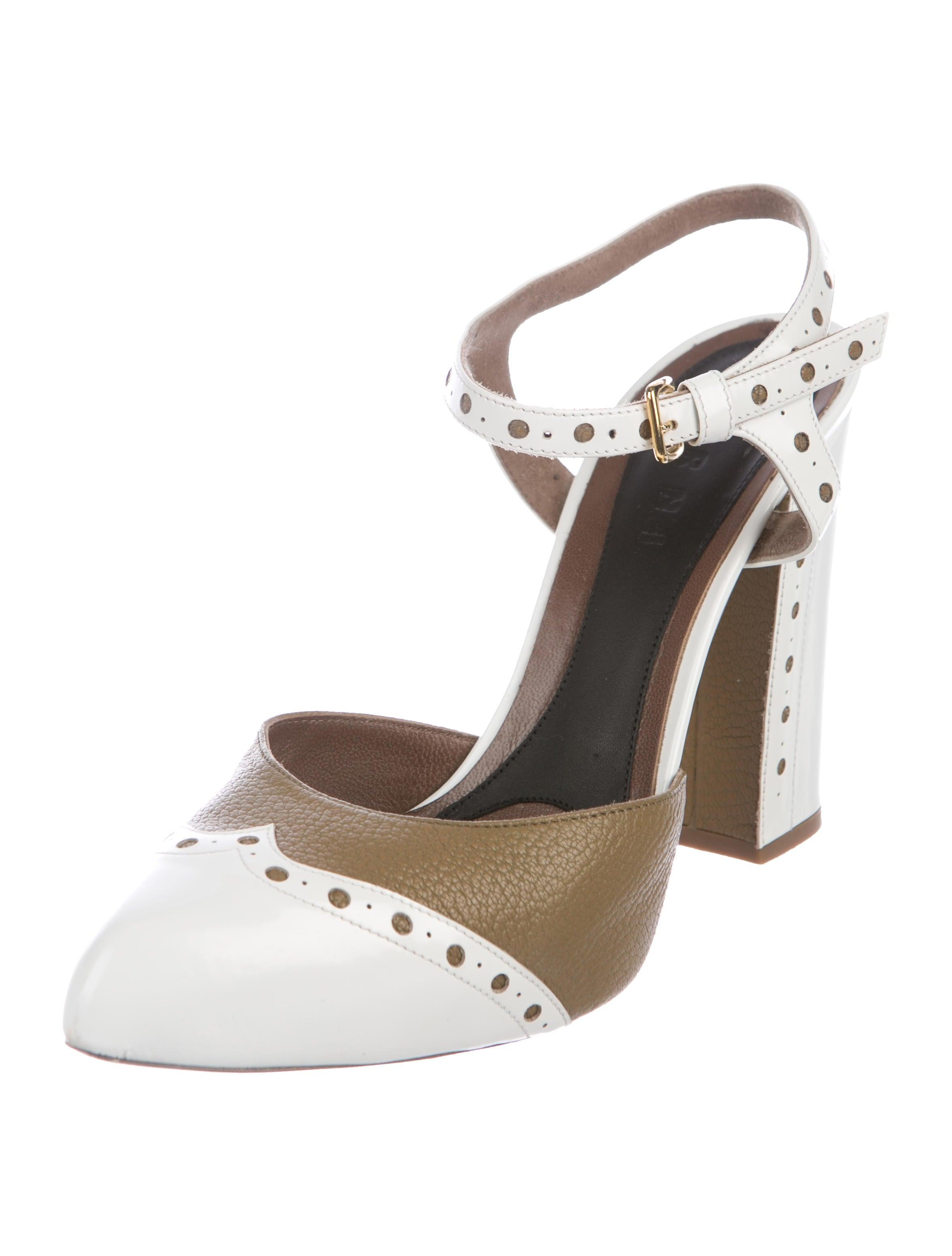 Marni Wingtip Ankle-Strap Pumps footlocker 2015 cheap online cheap latest collections 8E2g7J