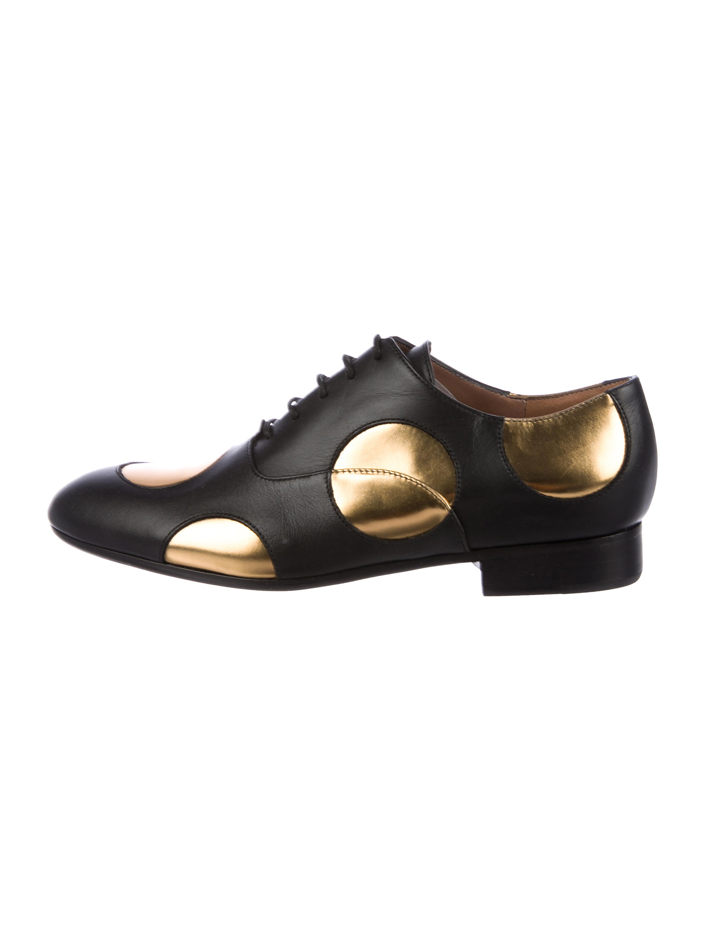 Marni Leather Round-Toe Oxfords free shipping original ikZMm