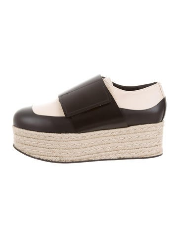 Marni Leather Espadrille Wedges w/ Tags None