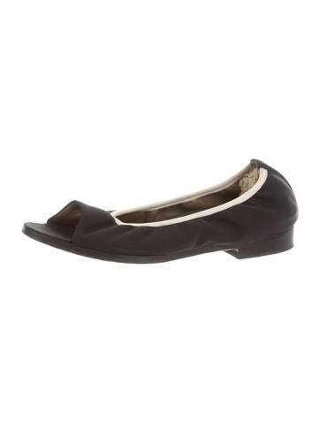 cheap recommend cheap sale best prices Marni Peep-Toe Nylon Flats footlocker online bhFoOI2B5