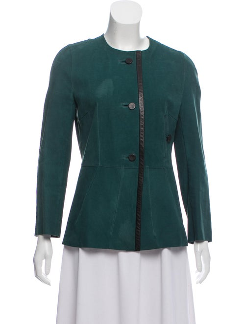 Marni Suede Evening Jacket Green