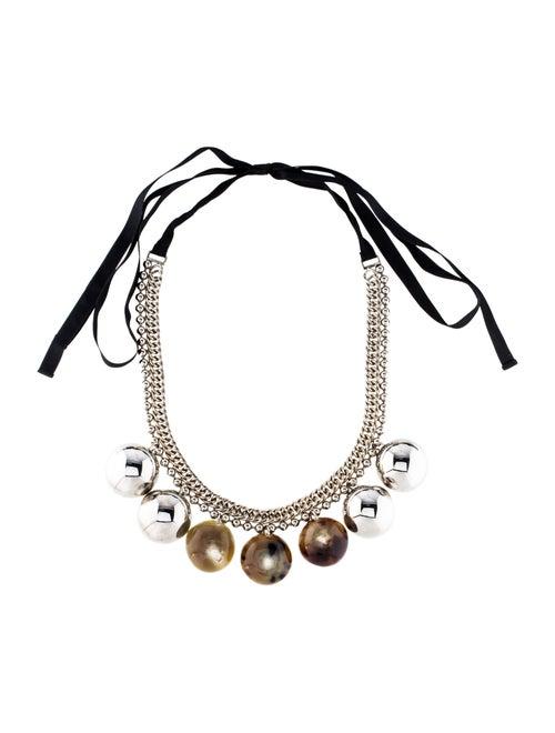Marni Resin, Horn & Metal Marni Ribbon Necklace Si
