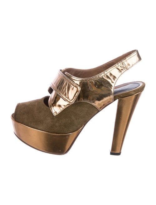 Marni Platform Ankle Boots Brown