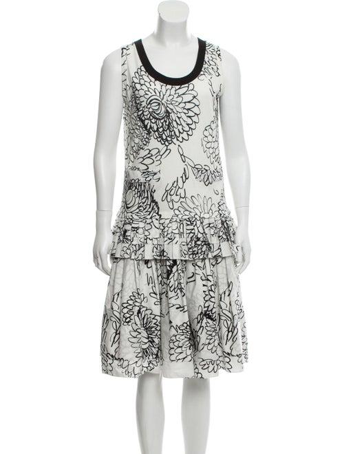 Marni Printed Sleeveless dress White