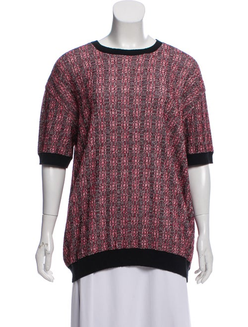 Marni Short Sleeve Knit Sweater black