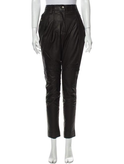Marc Jacobs Leather Skinny Leg Pants Black
