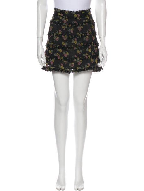 Marc Jacobs Silk Mini Skirt Black