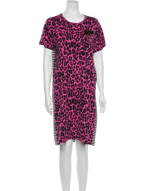 Marc Jacobs Animal Print Mini Dress Pink