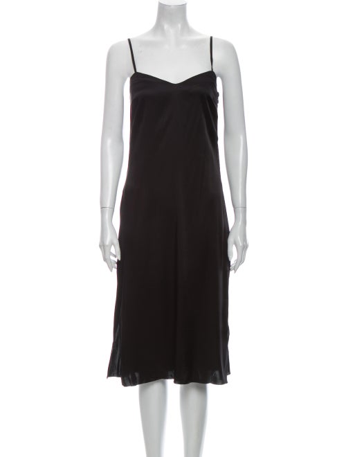 Marc Jacobs V-Neck Midi Length Dress Black