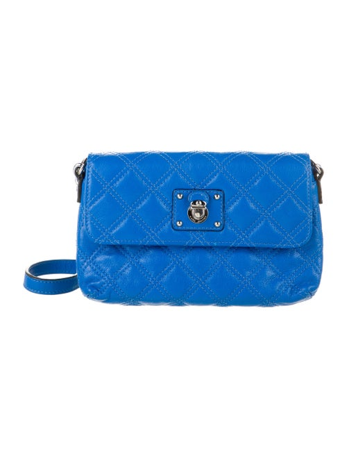 Marc Jacobs Leather Crossbody Bag Blue