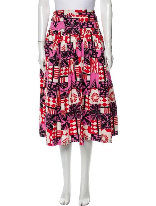 Marc Jacobs Printed Midi Length Skirt