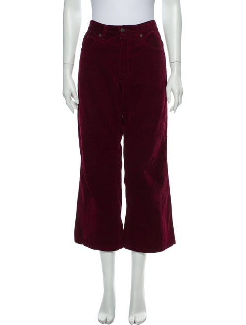 Marc Jacobs Wide Leg Pants Red