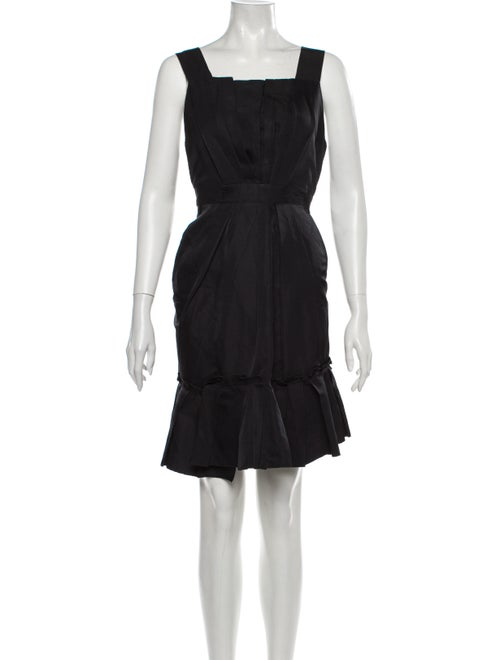 Marc Jacobs Linen Mini Dress Black