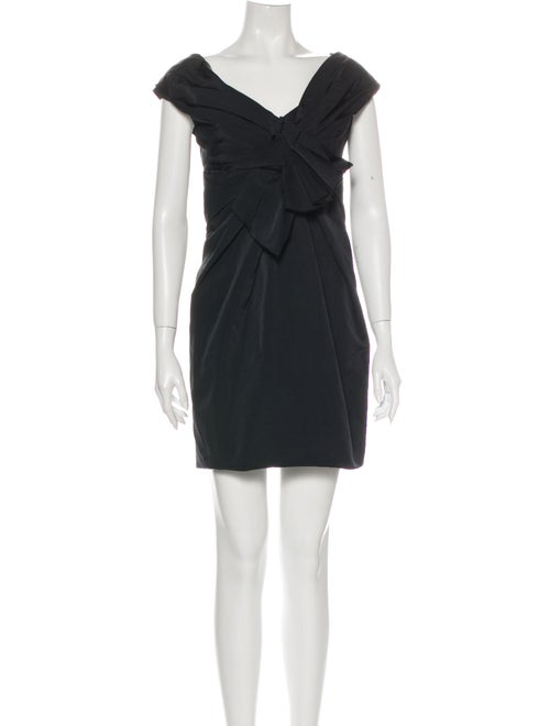 Marc Jacobs V-Neck Mini Dress Black