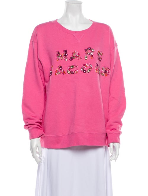 Marc Jacobs Graphic Print Crew Neck Sweatshirt Pin