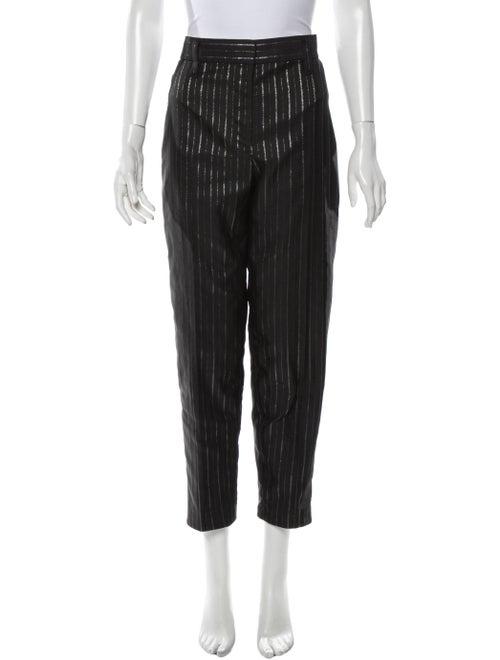 Marc Jacobs Striped Straight Leg Pants Black