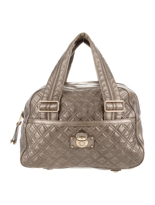 Marc Jacobs Metallic Quilted Bowler Bag Metallic