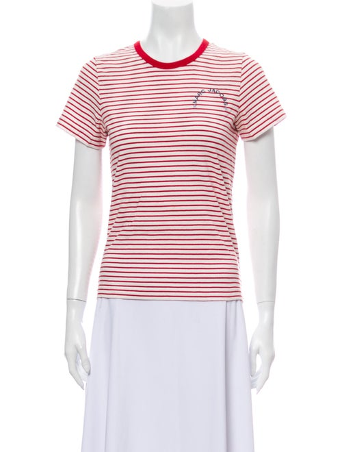 Marc Jacobs Striped Crew Neck T-Shirt Red