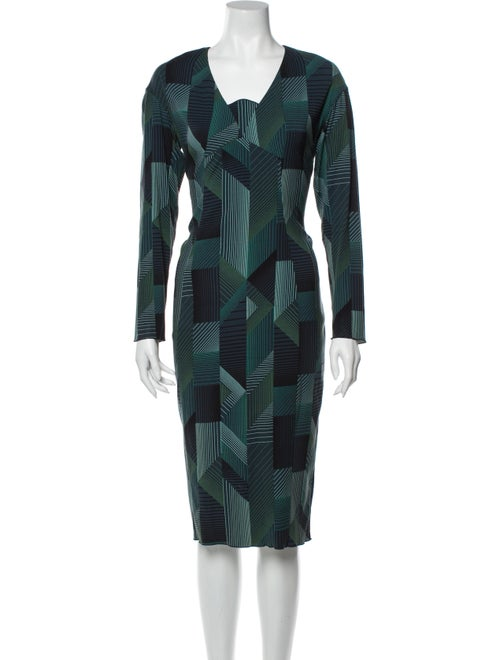 Marc Jacobs Printed Midi Length Dress Green