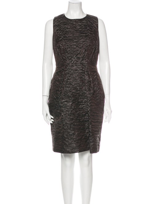 Marc Jacobs Silk Knee-Length Dress Brown