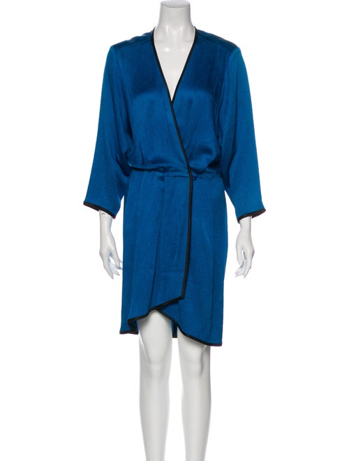 Marc Jacobs V-Neck Knee-Length Dress Blue